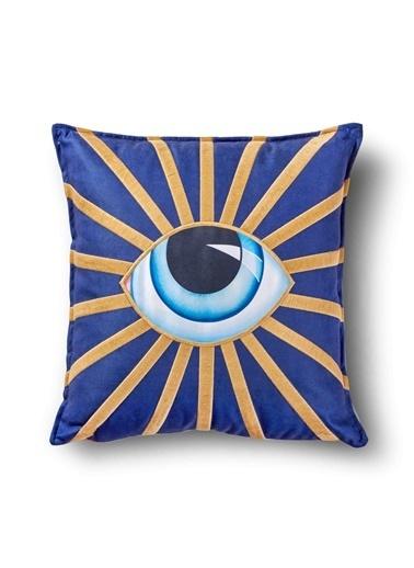 The Mia Eye Nakışlı Yastık 40 x 40 Cm Renkli